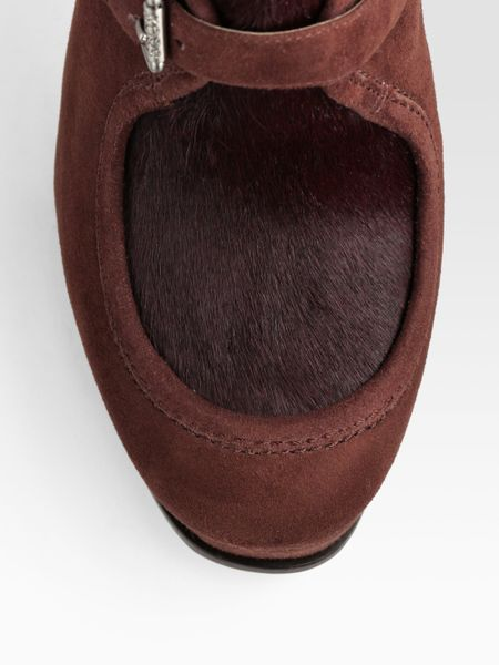 Kors By Michael Kors Irving Wollabee Suede Amp Calf Hair