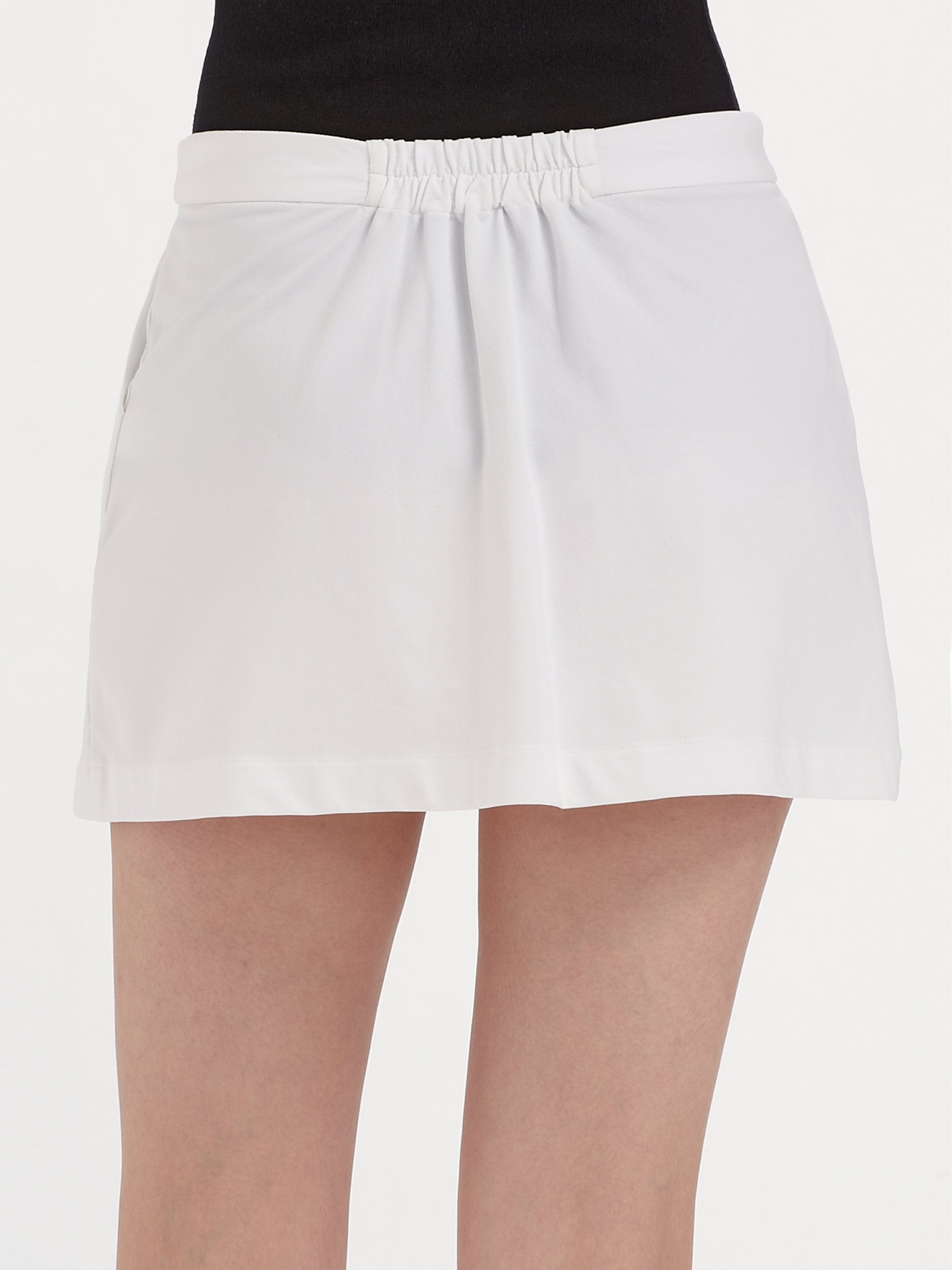 Lacoste Pique Tennis Wrap Skirt In White Lyst