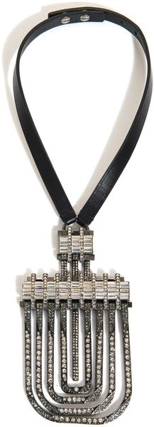 Lanvin Art Deco Crystal Necklace - Lyst