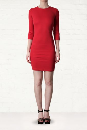 McQ by Alexander McQueen Mcq By Alexander Mcqueen Red Body Con Dress - Lyst