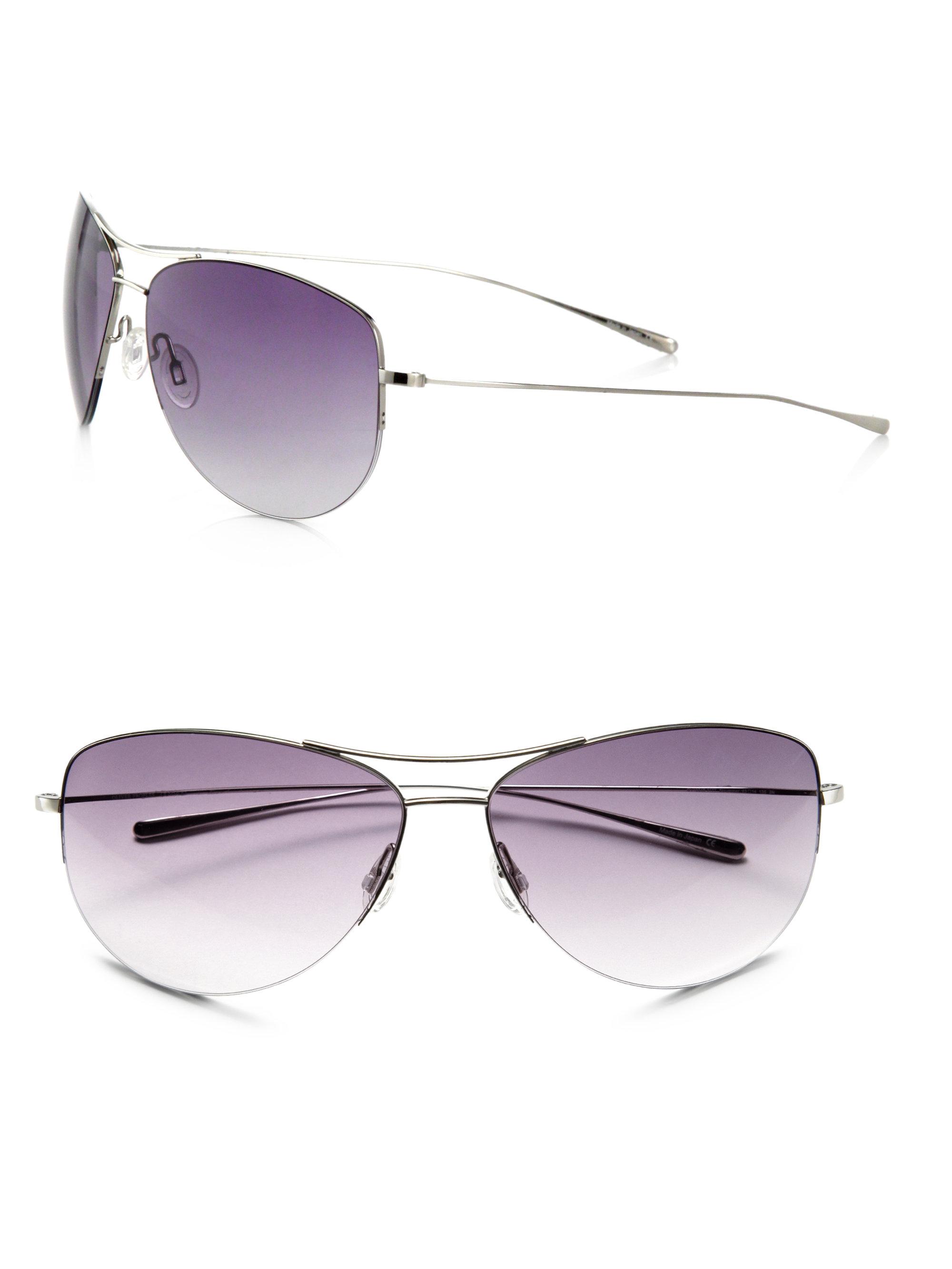 13628efb09f8b Oliver Peoples Strummer Metal Sunglasses in Purple - Lyst