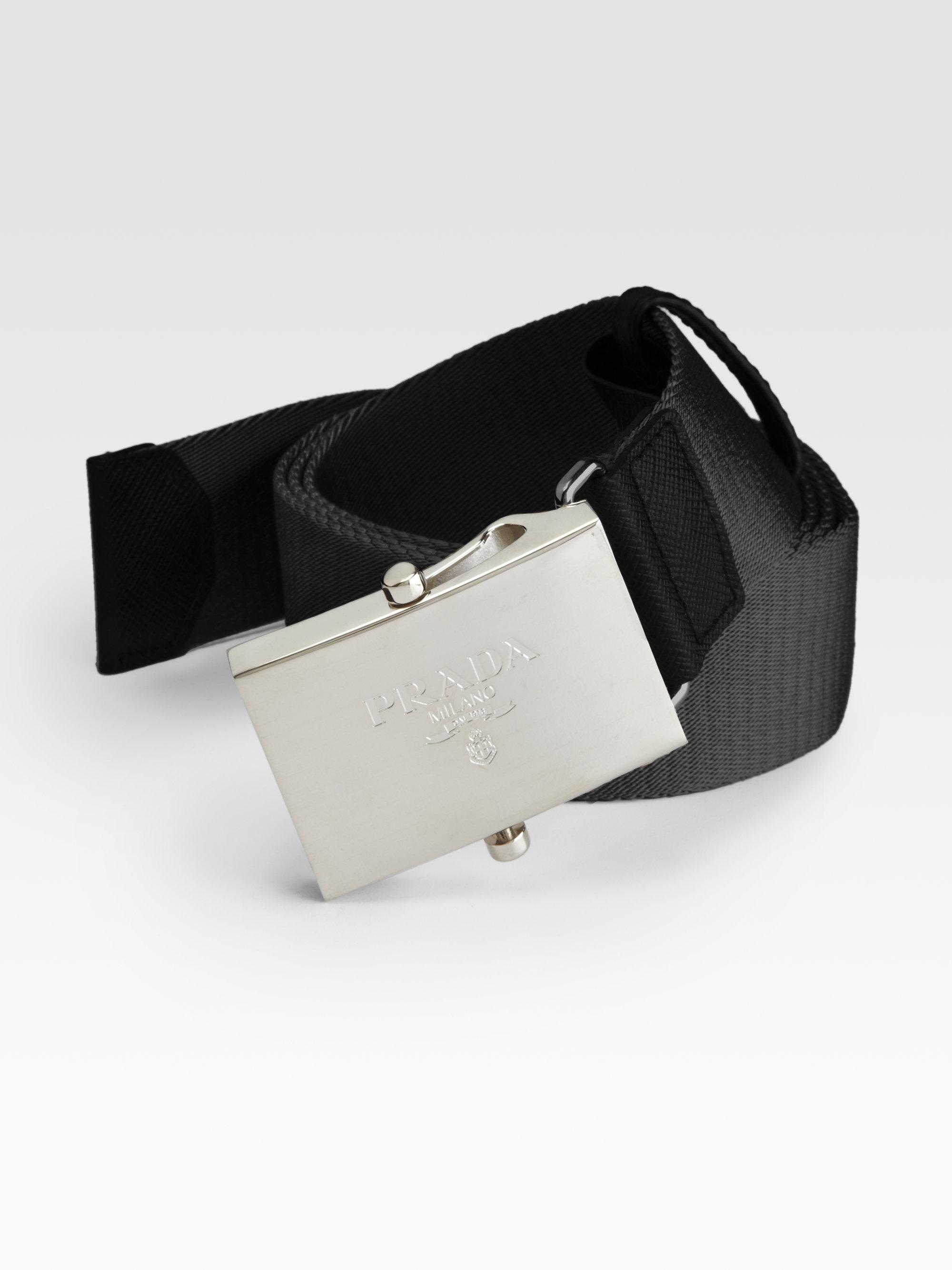 ... canada lyst prada nylon belt in black for men 92301 8cfcb b0a5e0657d840