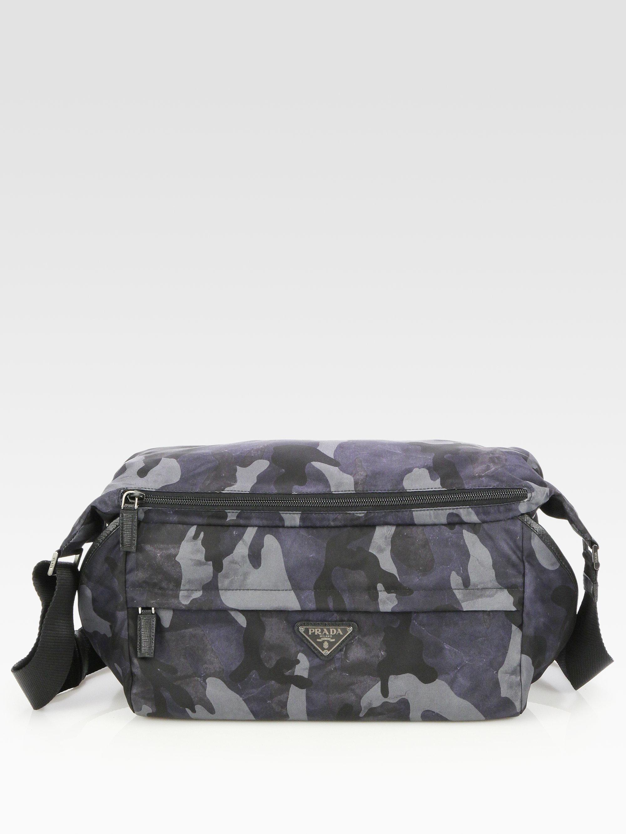 ed76f765a0ab ... usa lyst prada small nylon shoulder bag in blue for men 7e8b2 2d84f