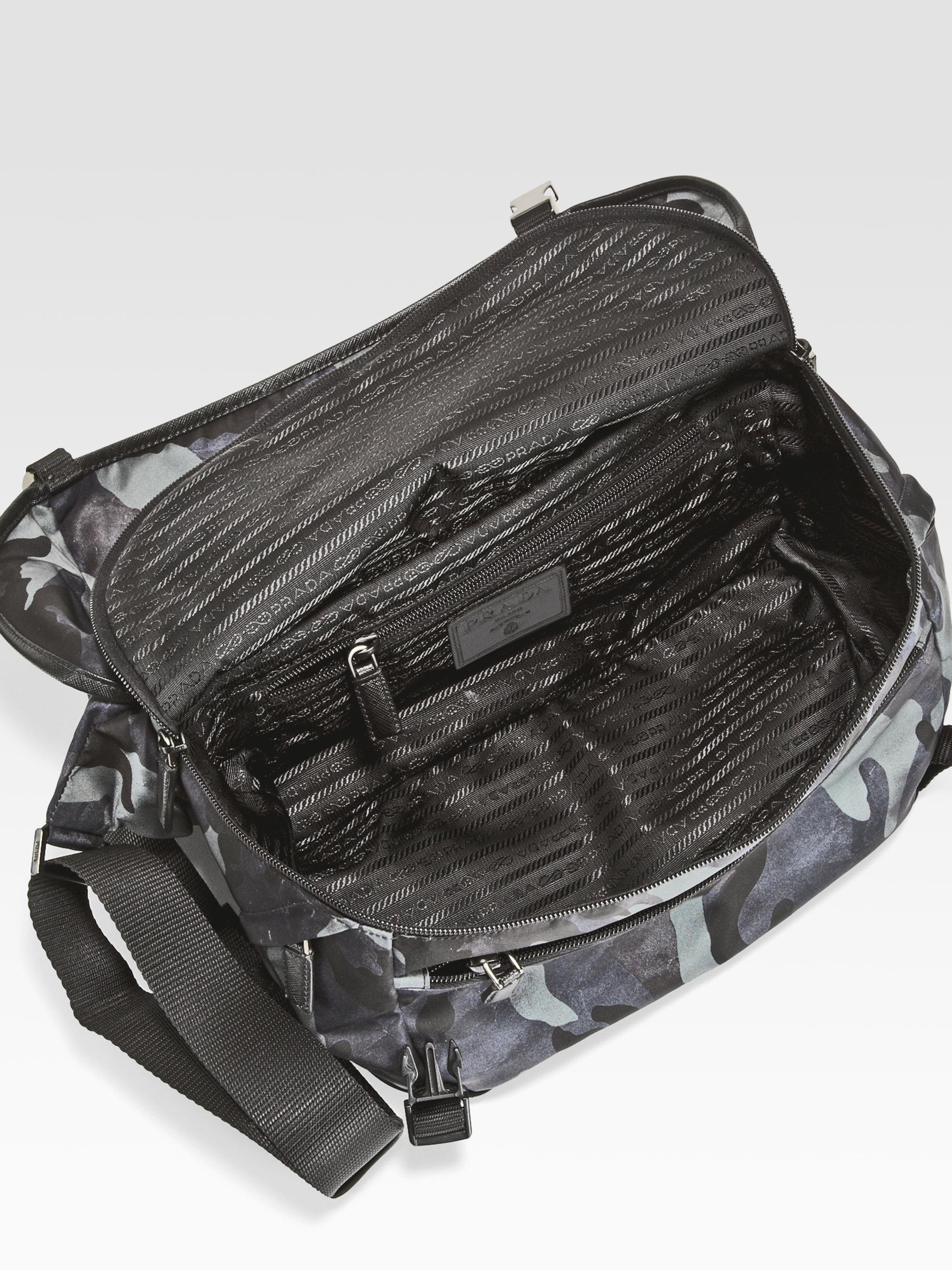 Prada Small Nylon Shoulder Bag in Blue for Men (blue camo) | Lyst