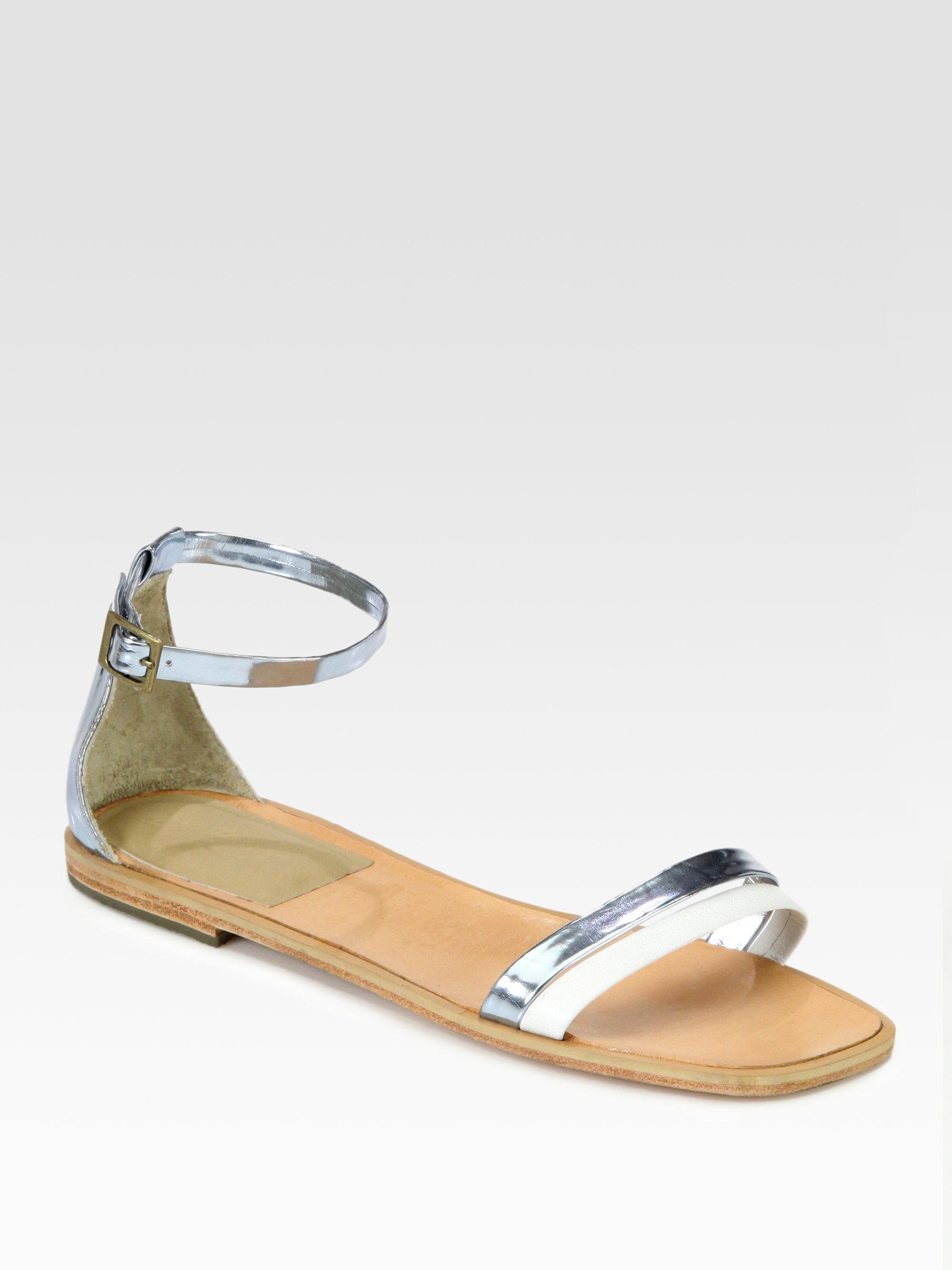 Rachel Comey Metallic Ankle Strap Sandals cheap sale 2014 newest outlet locations sale online cheap discount buy cheap factory outlet MFURwaeUW