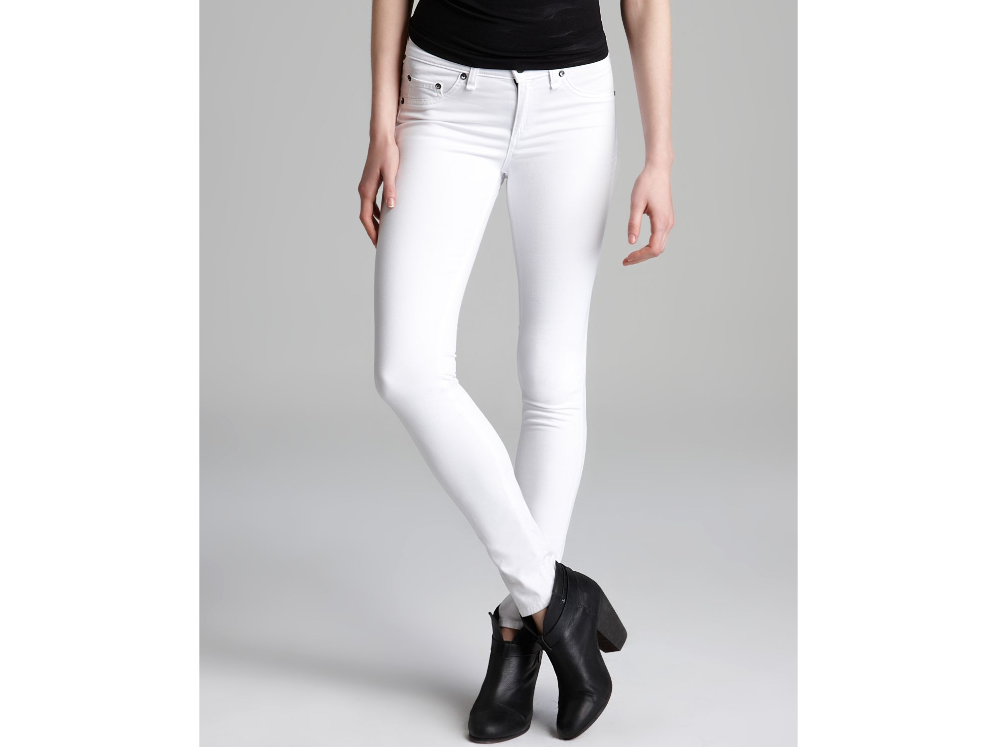 0665d920574376 Details about RAG & BONE Bright acne WHITE skinny Jean denim Pants LEGGINGS  frame 26
