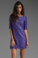 Shoshanna Lace Lisa Shift Dress - Lyst