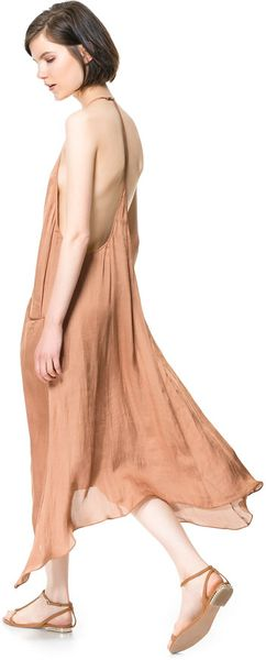 Zara Long Dress with Pockets - Lyst