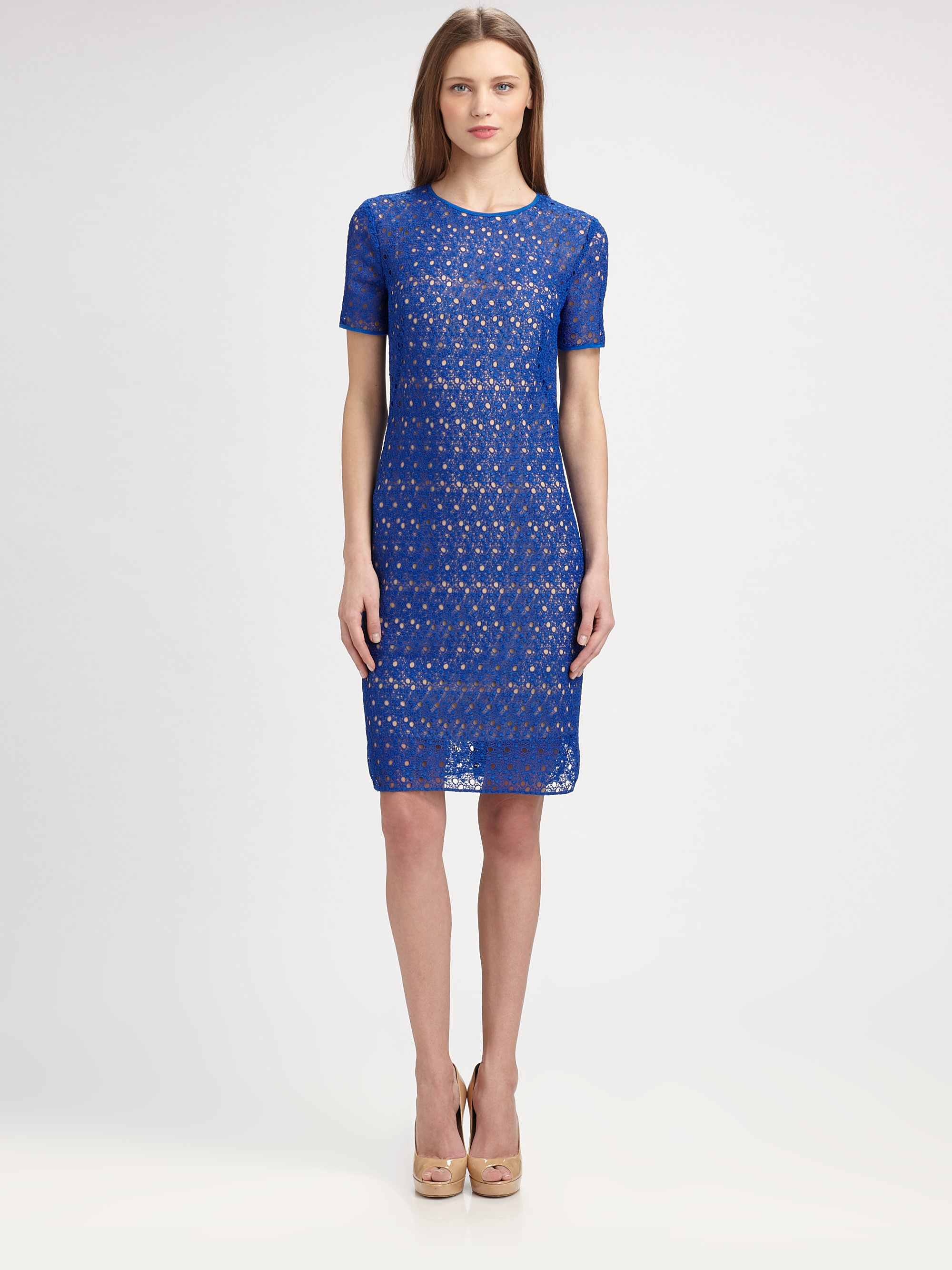 Akris Punto Lace Dress in Blue (royal blue) | Lyst