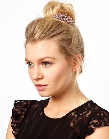 Jewell Hair: Asos Limited Edition Jewel Hair Brooch In Pink