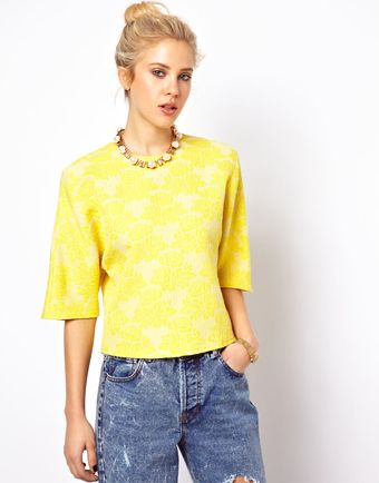 Asos Shell Top in Abstract Jacquard - Lyst
