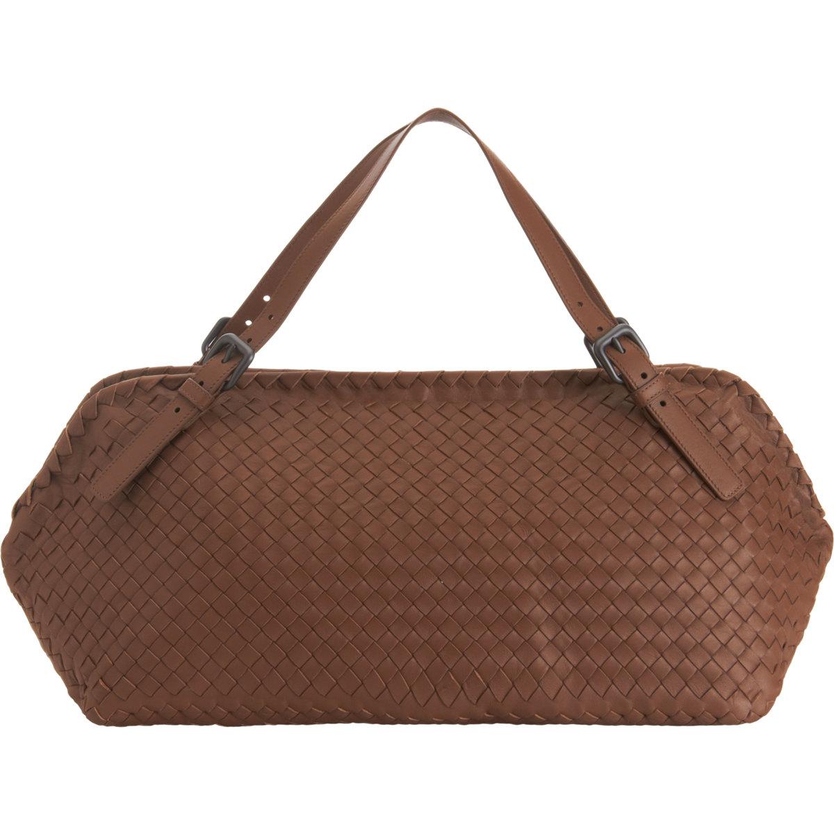 bottega veneta intrecciato boca shoulder bag in brown lyst