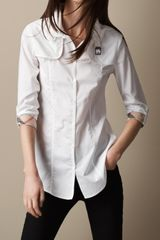 Burberry Brit Heritage Cotton Poplin Shirt - Lyst