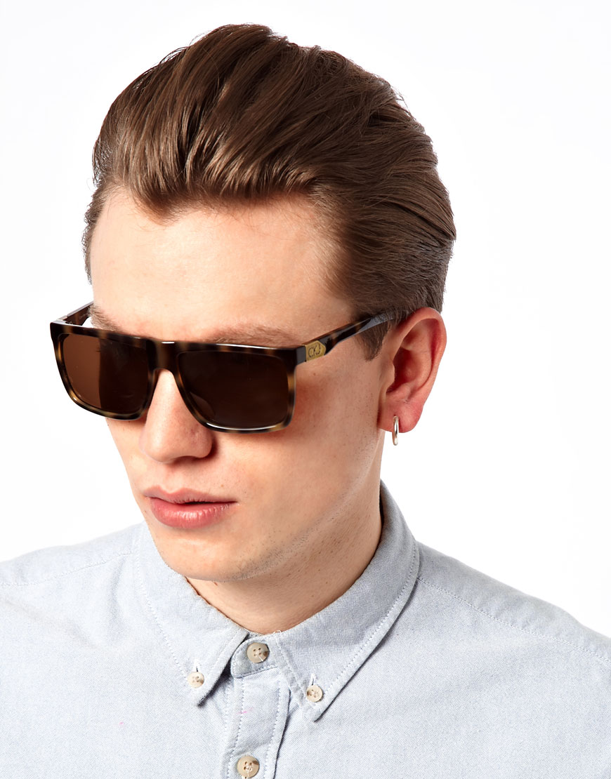 aace07719c7c Lyst - Calvin Klein Ck Jeans Wayfarer Sunglasses in Brown for Men