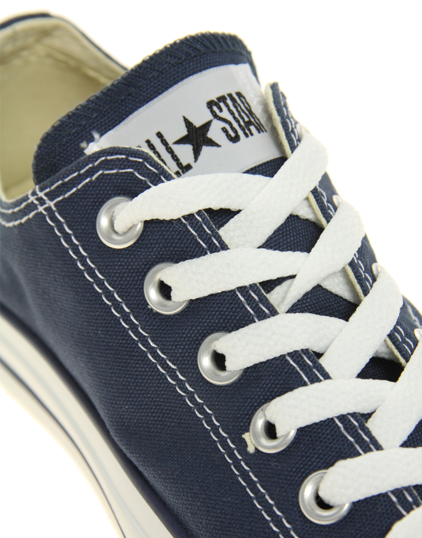 Lyst Converse All Star Ox Trainers In Blue