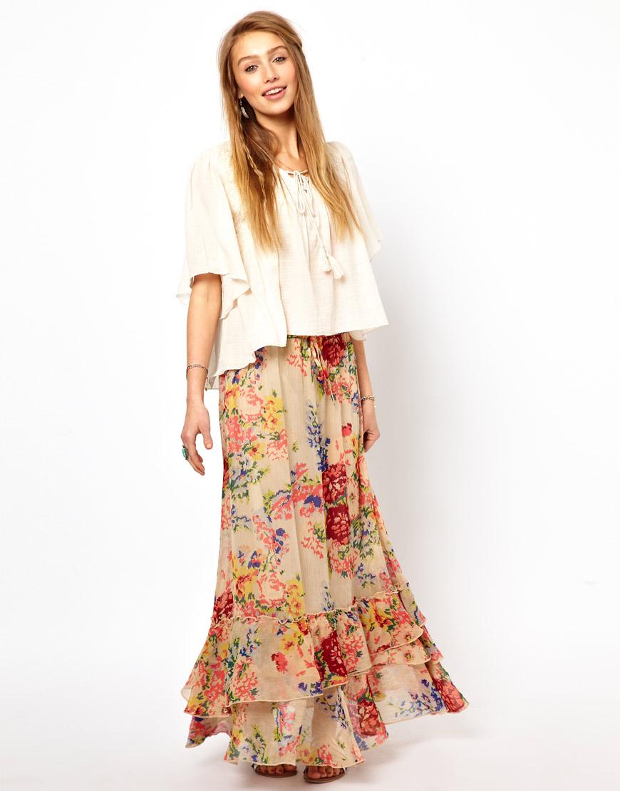 Denim Amp Supply Ralph Lauren Fluted Maxi Skirt Lyst