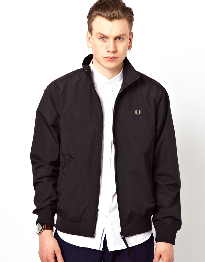 fred perry sailing jacket in black for men lyst. Black Bedroom Furniture Sets. Home Design Ideas