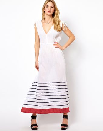 French Connection Sun Stripe Beach Maxi Dress - Lyst