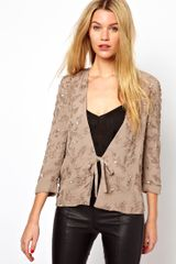 French Connection Taupe Mimosa Mist Jacket - Lyst