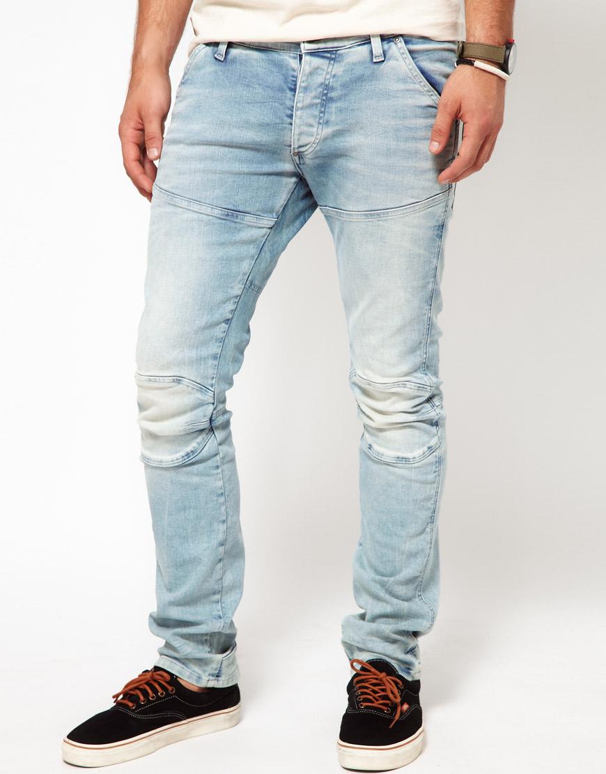 1b64d1bef2a G-Star RAW G Star Jeans Elwood 3d Super Slim Lt Aged in Blue for Men ...