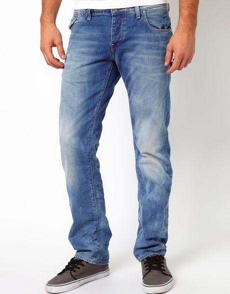 g star raw morris low straight leg jeans in blue for men. Black Bedroom Furniture Sets. Home Design Ideas