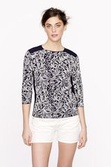 J.Crew Embroidered Wildflower Top - Lyst