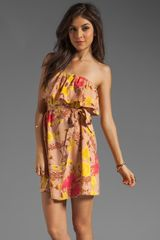 Plenty By Tracy Reese Wild Orchid Drapey Strapless Dress in Wild Orchid - Lyst