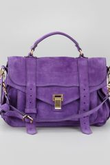 Proenza Schouler Suede Medium Satchel Bag Purple
