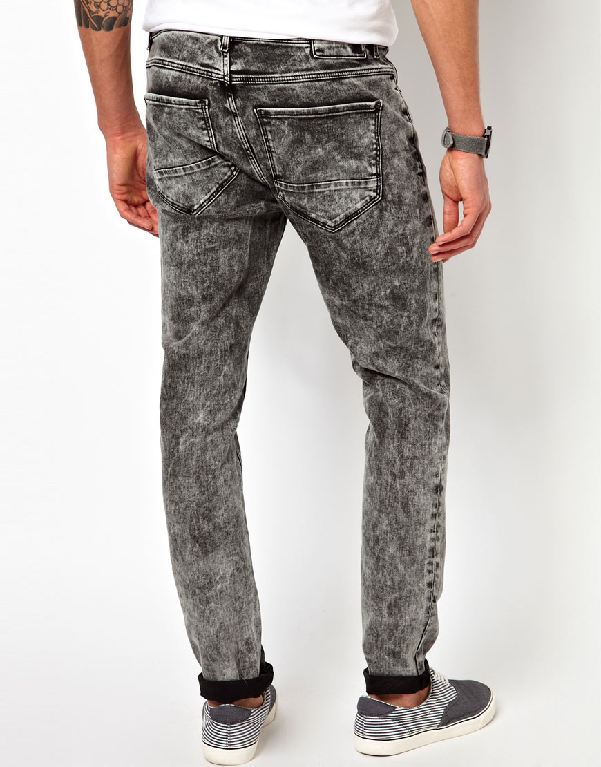 Discover our range of ripped jeans for men at ASOS. Our men's ripped jeans collection is in skinny fit, destroyed & torn styles in a variety of denim hues. Esprit Stretch Skinny Fit Jeans In Vintage Wash Blue With Knee Rips. $ ASOS DESIGN Plus super spray on jeans with knee rips in black. Sixth June super skinny jeans in black.