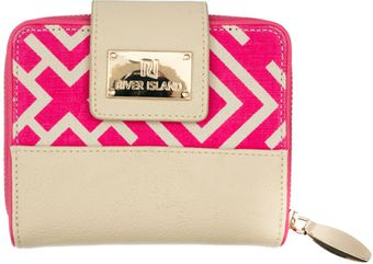 River Island Pink Geo Square Purse - Lyst