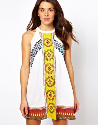 River Island Misha Mexican Dress - Lyst