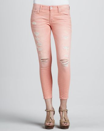 Sinclair Fisk Destroyed Cropped Jeans Orange - Lyst