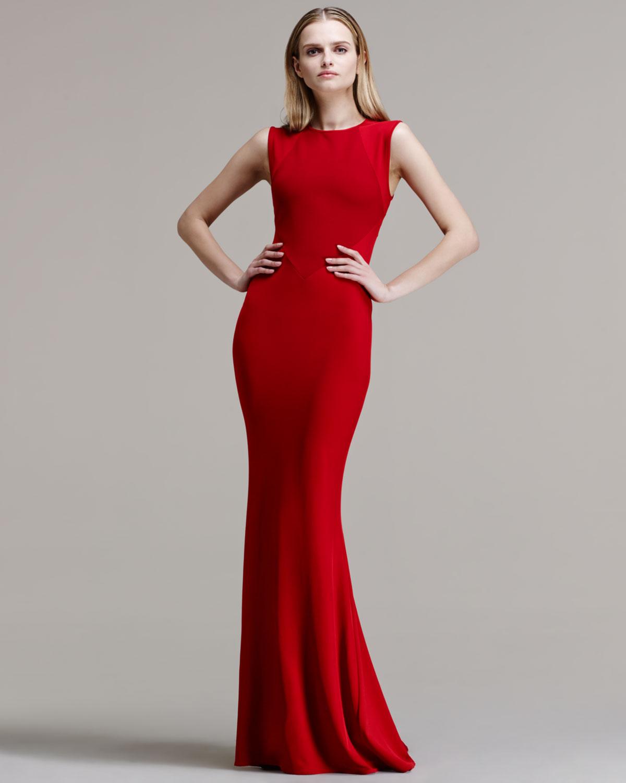 d5e97d32a1 Stella McCartney Paneledbodice Mermaidskirt Gown in Red - Lyst