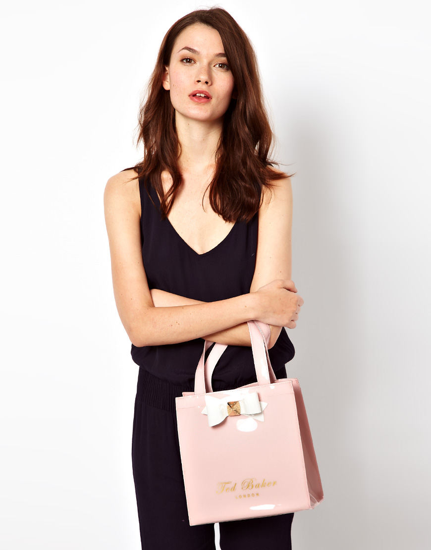 Ted Baker Small Bow Ikon Bag In Pink Lyst
