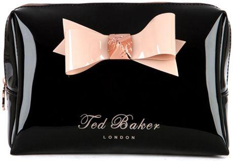 Ted Baker Bow Wash Bag in Black for Men