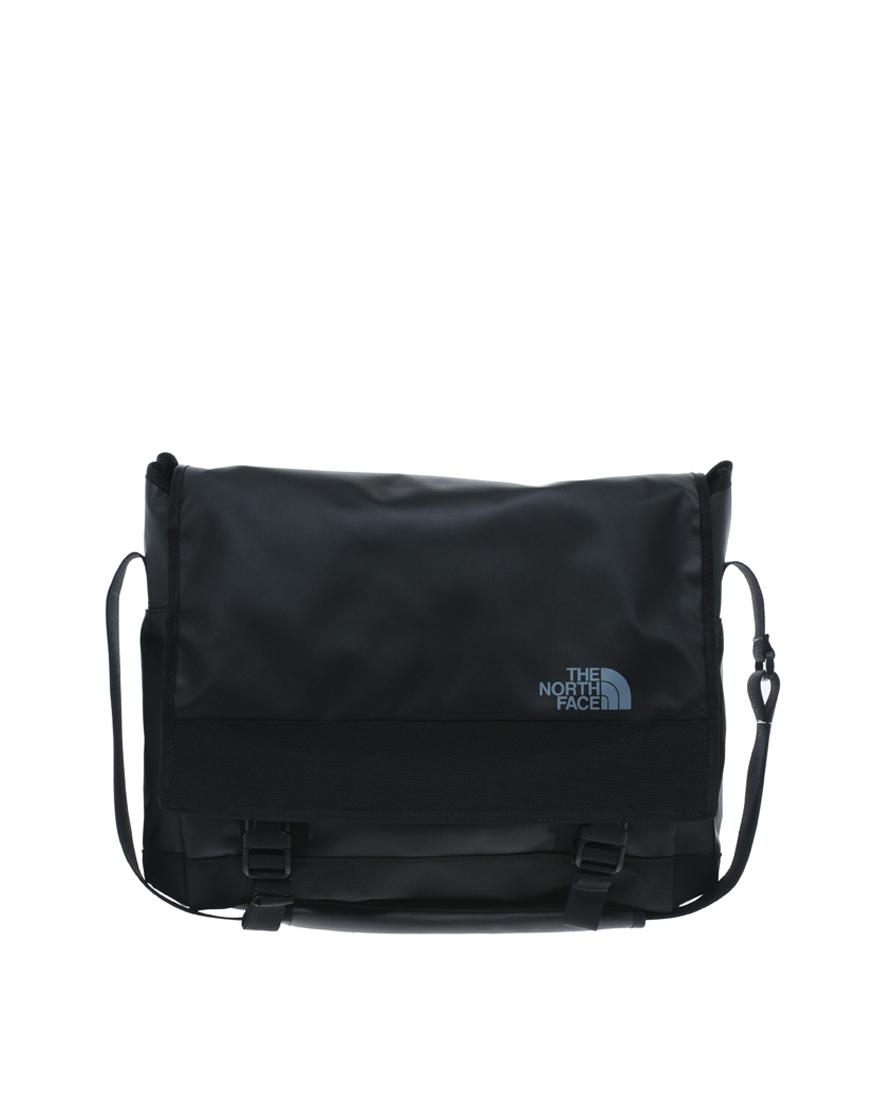 lyst the north face base camp messenger bag in black for men. Black Bedroom Furniture Sets. Home Design Ideas