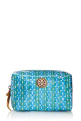 Tory Burch Coated Poplin Brigitte Cosmetic Case - Lyst
