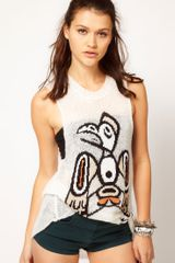 Wildfox White Label Almo Cutoff Trailer Tank Top - Lyst