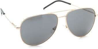 Yves Saint Laurent Classic Metal Aviator Sunglasses - Lyst