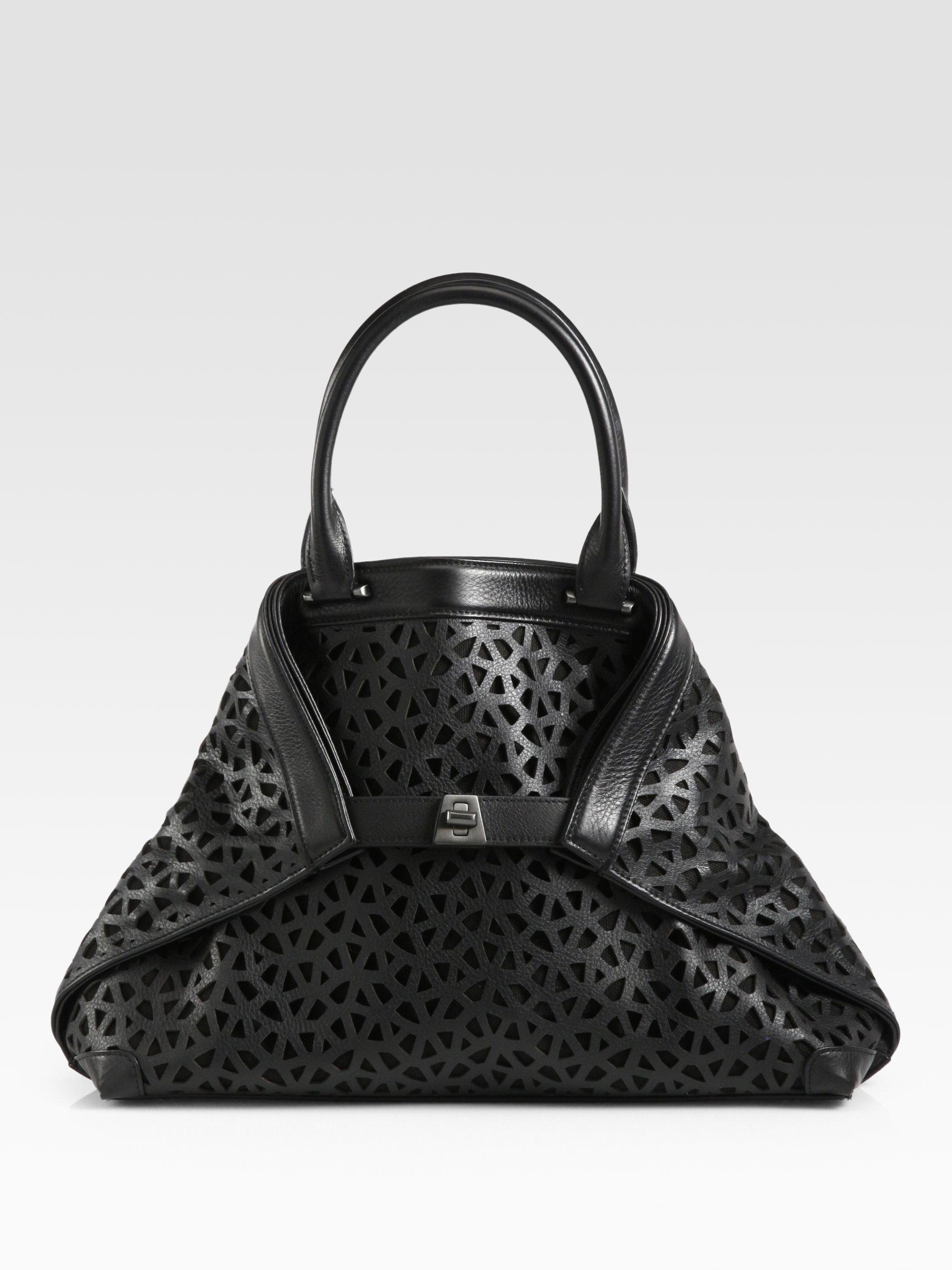 8b3390ae0a Lyst - Akris Ai Small Lasercut Bag in Black