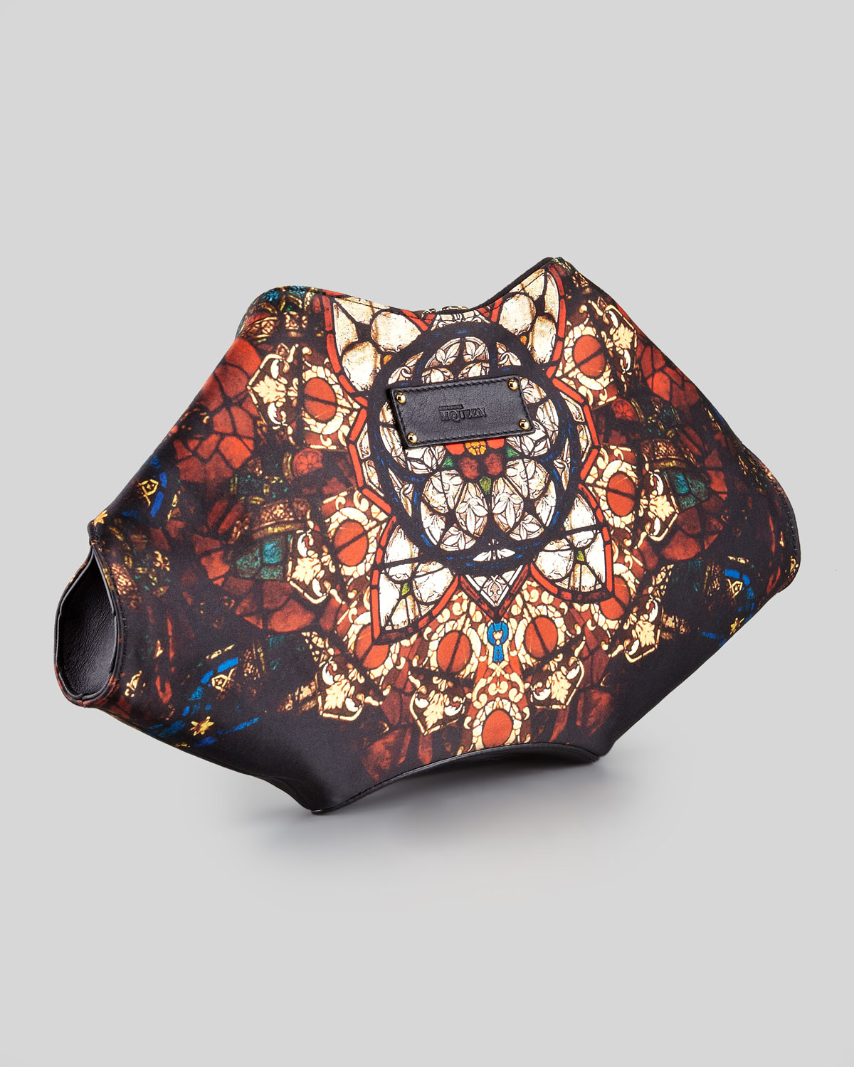 Alexander Mcqueen Demanta Stained Glass Printed Clutch Bag ...