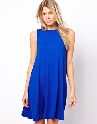 Asos Sleeveless Swing Dress - Lyst
