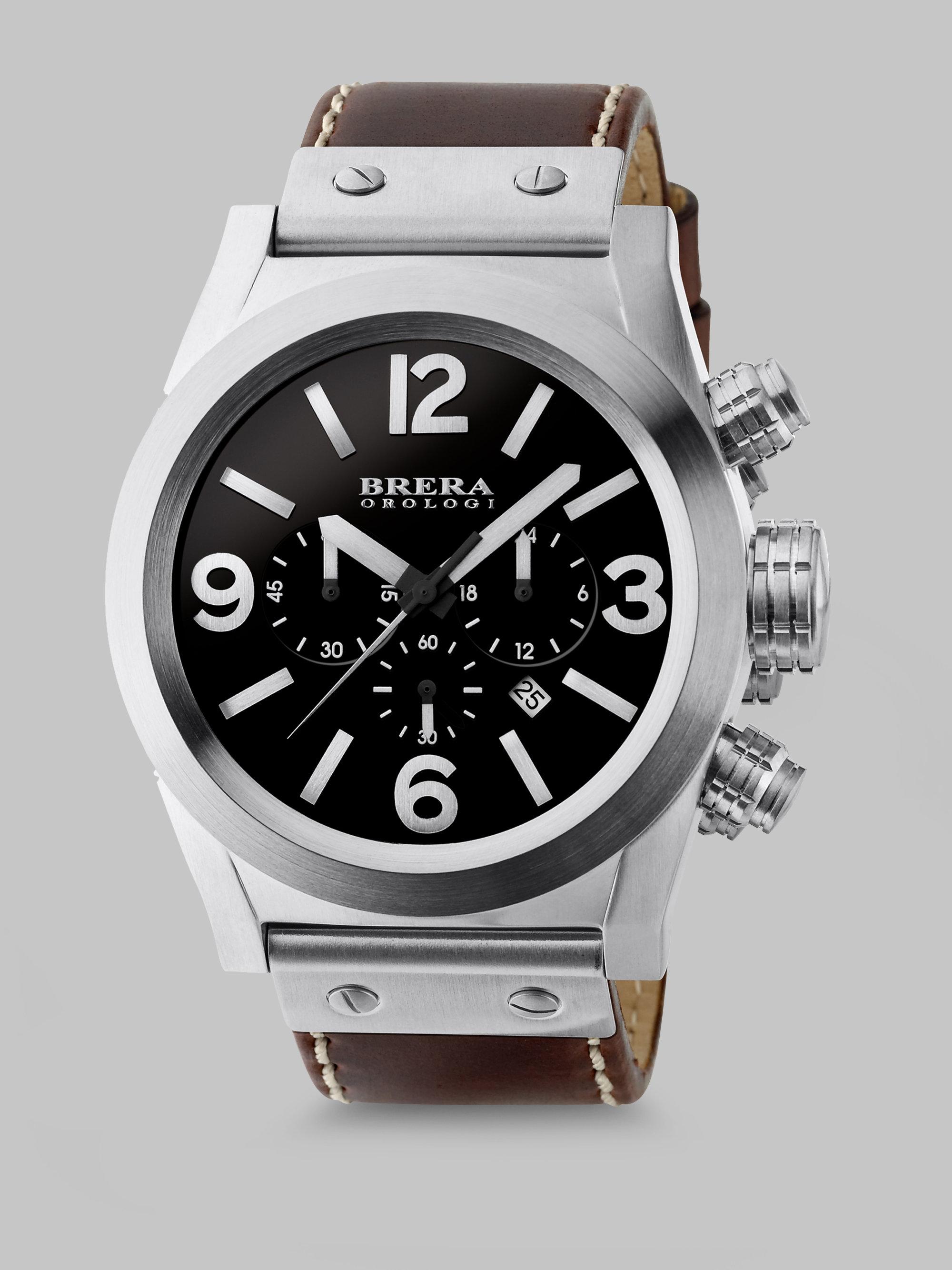 brera orologi eterno chronograph in metallic for