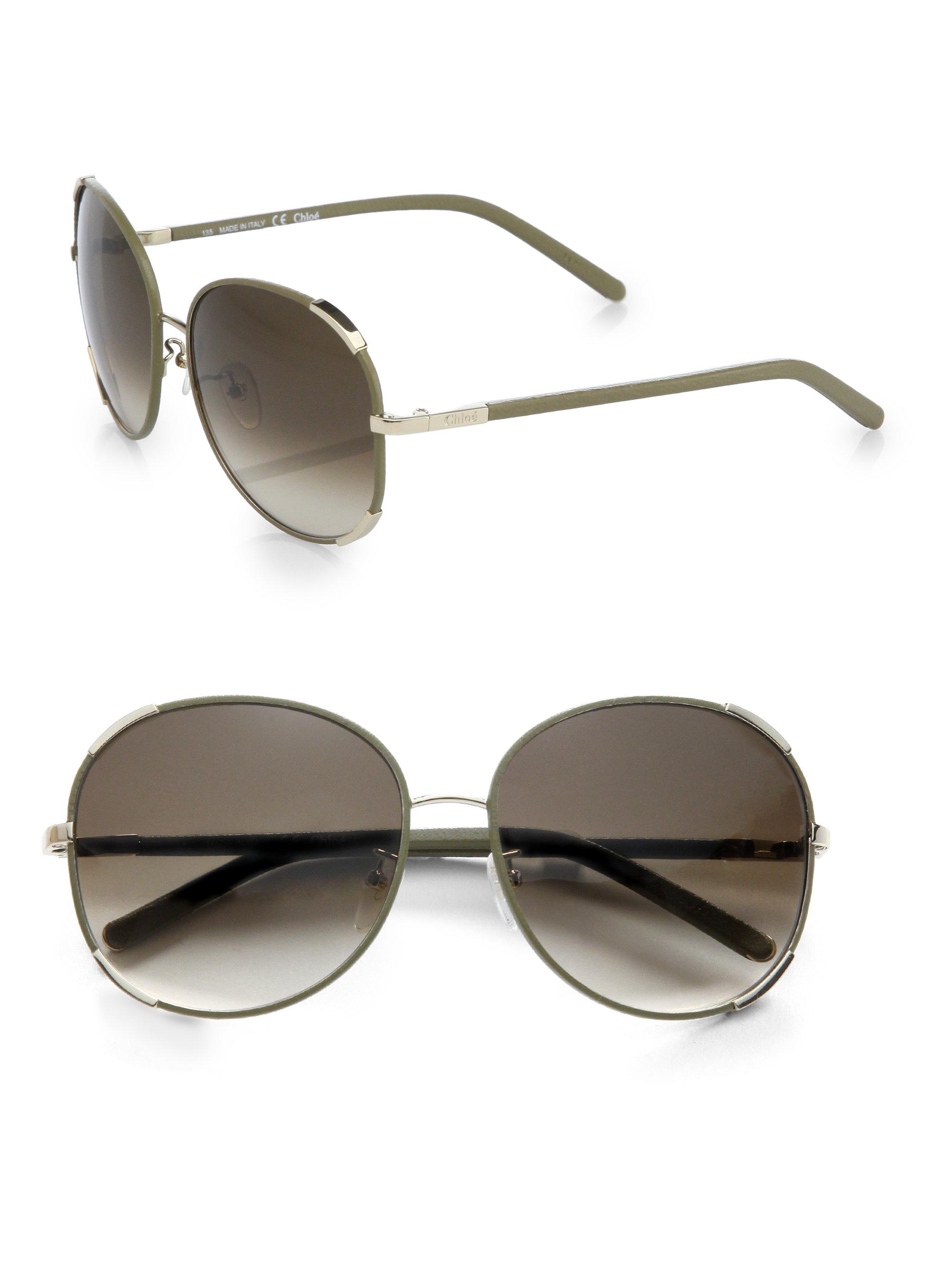 b69e2db405f0 Chloe Square Aviator Sunglasses