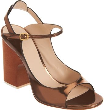 Chloé Metallic Mary Jane Sandal - Lyst