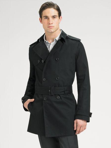 dior homme canvas trench coat in black for men lyst. Black Bedroom Furniture Sets. Home Design Ideas