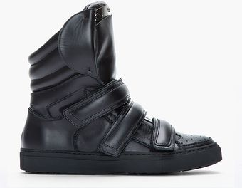 DSquared2 Black Leather Shin Guard Sneakers - Lyst
