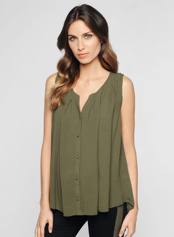 Ella Moss Button Top - Lyst