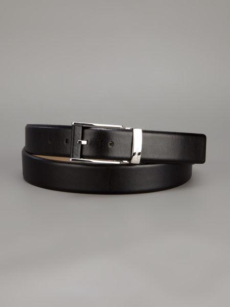 Emporio Armani Classic Belt in Black for Men   Lyst