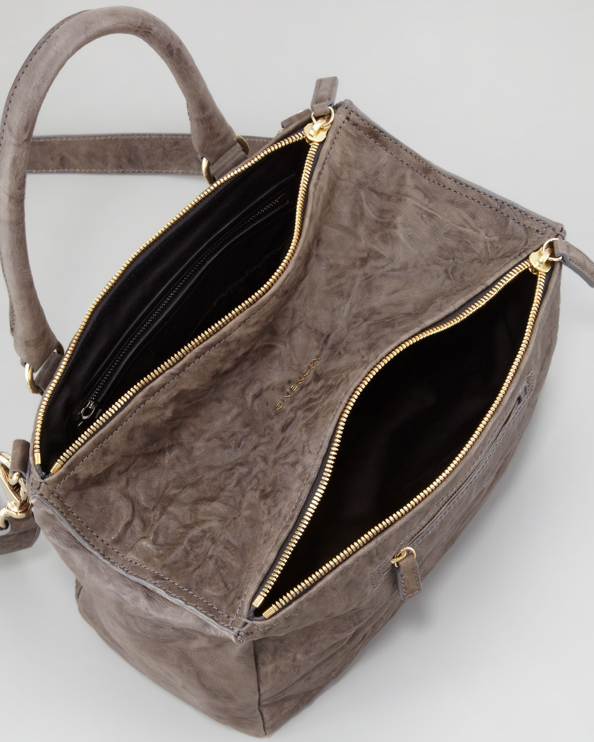 Lyst - Givenchy Pandora Medium Old Pepe Satchel Bag Charcoal in Brown d528d84dc0a7f